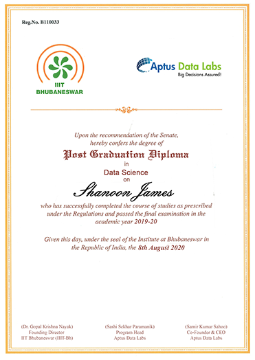 Post Graduate Diploma in Data Science Certificate