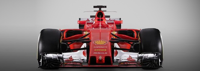 Ferrari Car showing Big Data Analytics Statistics