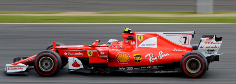 Ferrari running in race